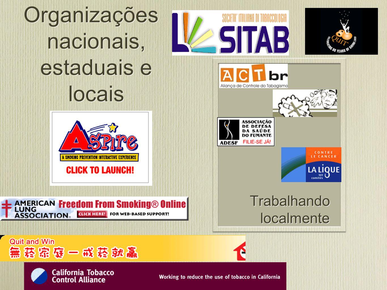 Organizações nacionais, estaduais e locais