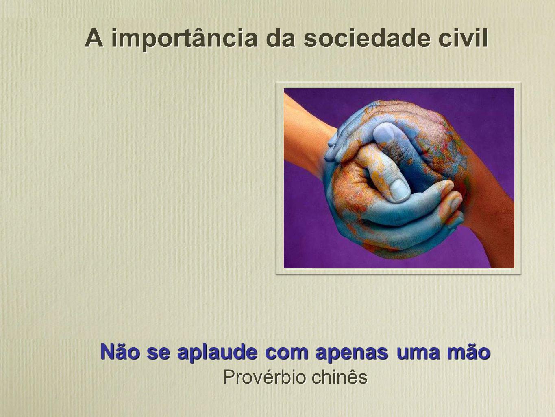A importância da sociedade civil