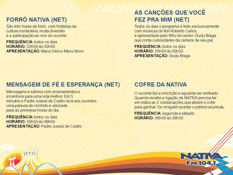 MENSAGEM DE FÉ E ESPERANÇA (NET) COFRE DA NATIVA
