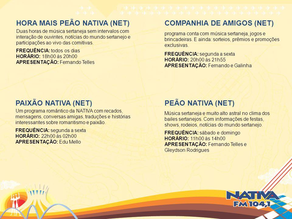 HORA MAIS PEÃO NATIVA (NET) COMPANHIA DE AMIGOS (NET)