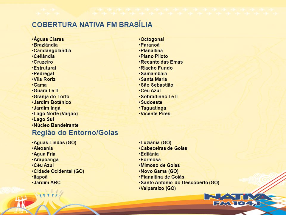 COBERTURA NATIVA FM BRASÍLIA