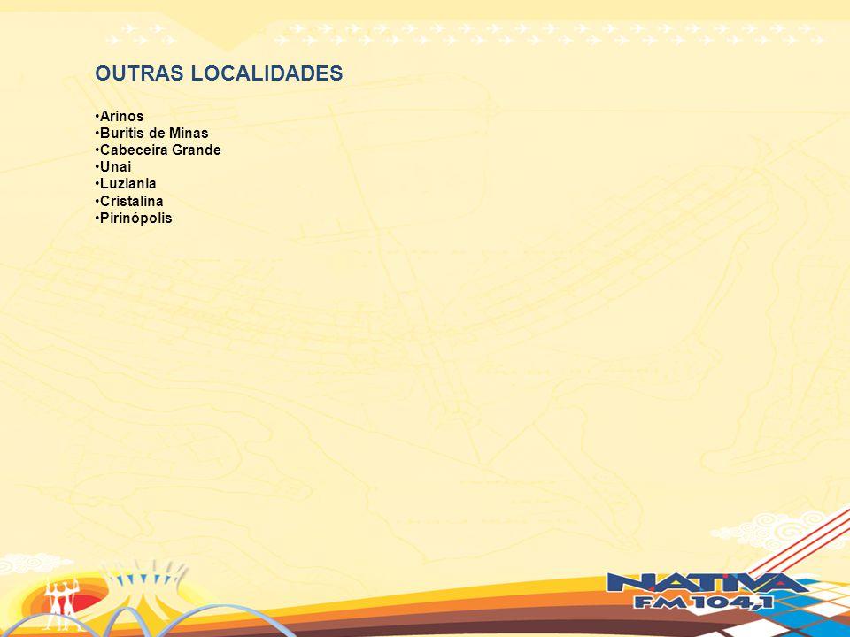 OUTRAS LOCALIDADES Arinos Buritis de Minas Cabeceira Grande Unai