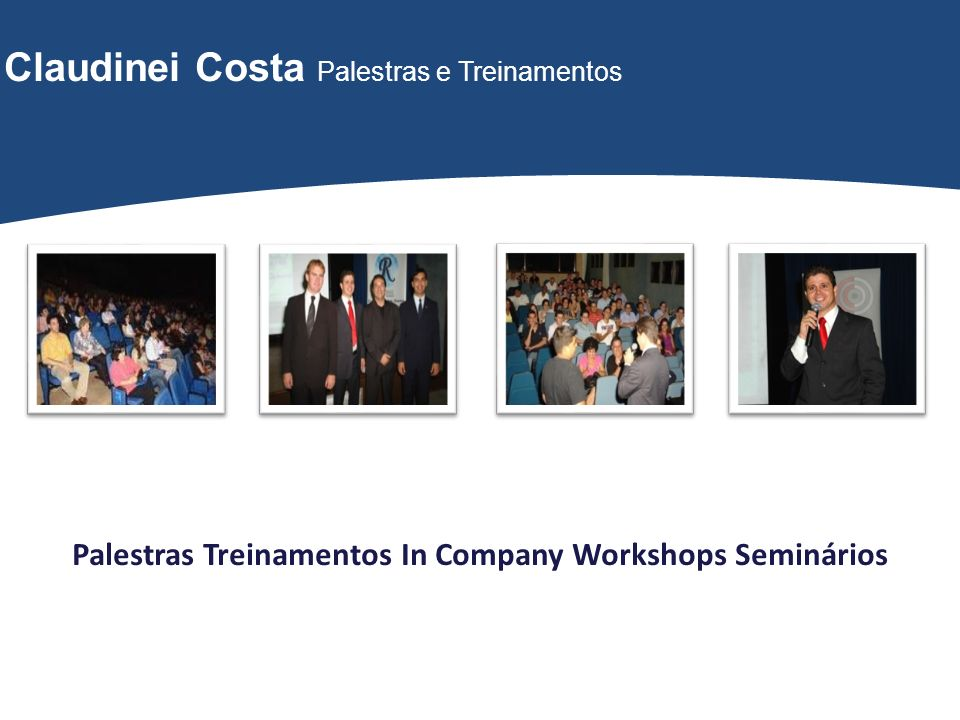 Palestras Treinamentos In Company Workshops Seminários