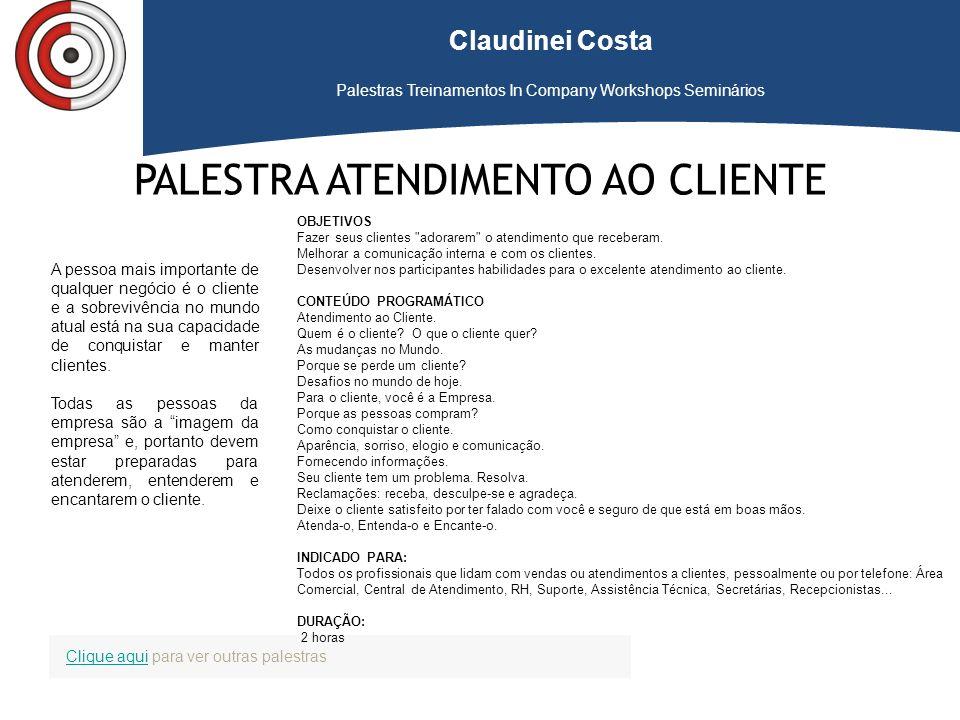 PALESTRA ATENDIMENTO AO CLIENTE