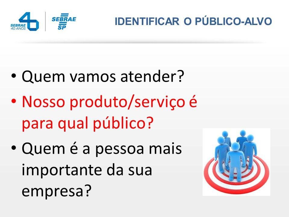 Nosso produto/serviço é para qual público