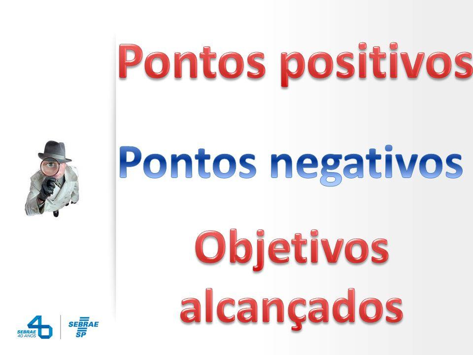 Pontos positivos Pontos negativos Objetivos alcançados