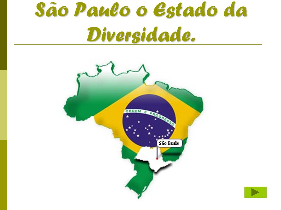 São Paulo o Estado da Diversidade.