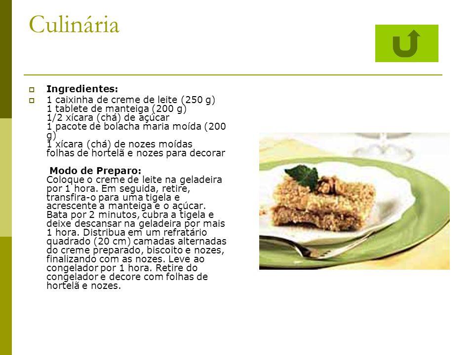 Culinária Ingredientes: