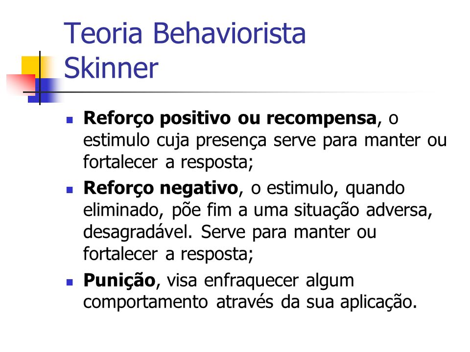 Teoria Behaviorista Skinner