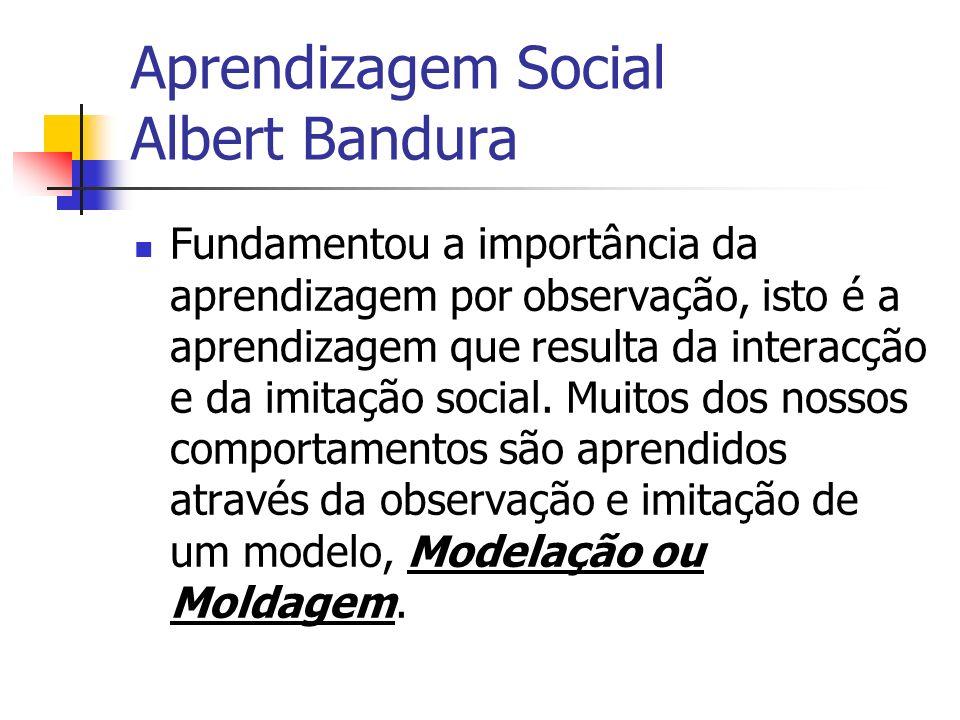 Aprendizagem Social Albert Bandura
