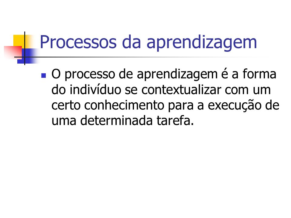 Processos da aprendizagem