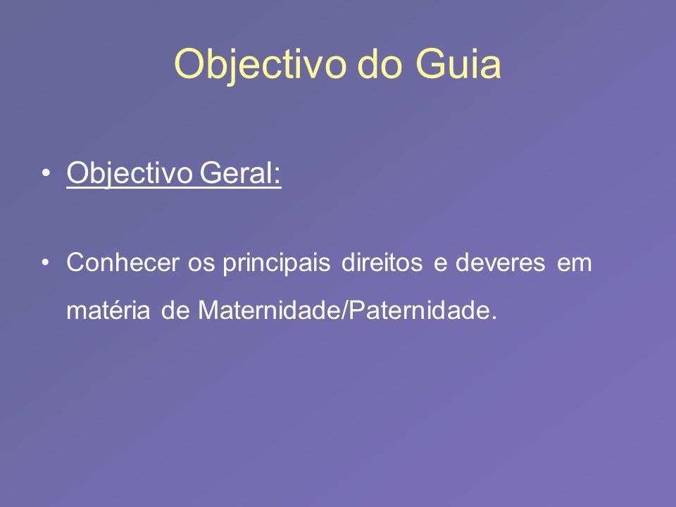 Objectivo do Guia Objectivo Geral: