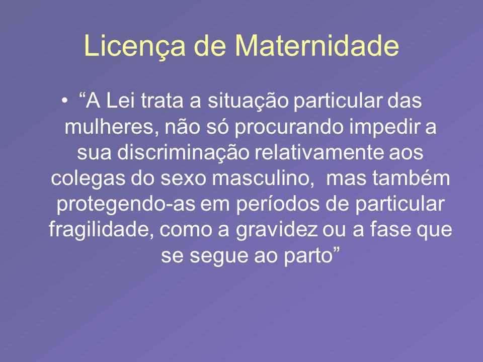 Licença de Maternidade
