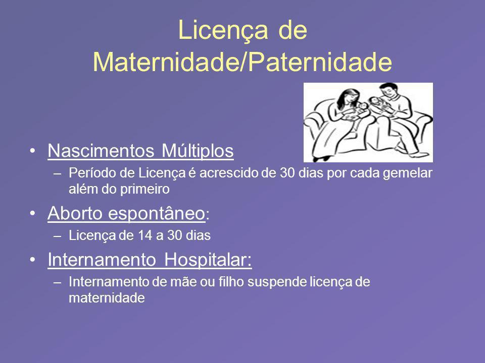 Licença de Maternidade/Paternidade