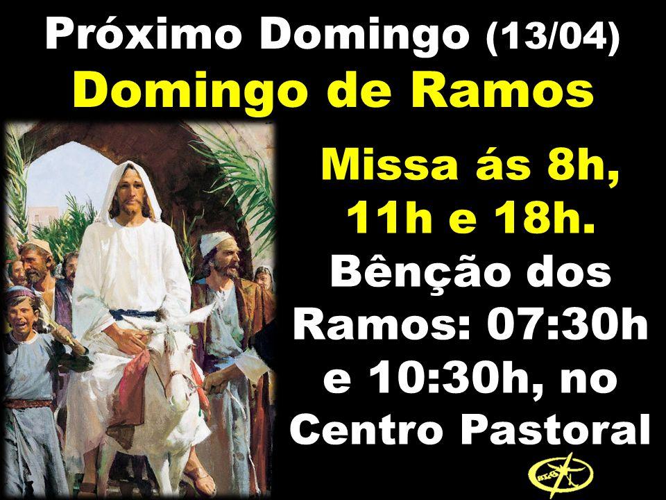 Domingo de Ramos Próximo Domingo (13/04)