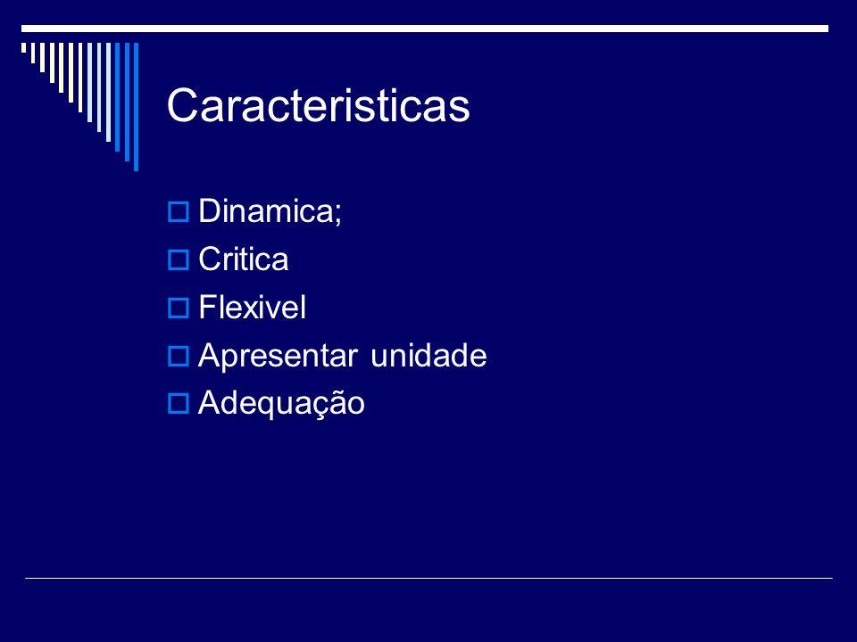 Caracteristicas Dinamica; Critica Flexivel Apresentar unidade
