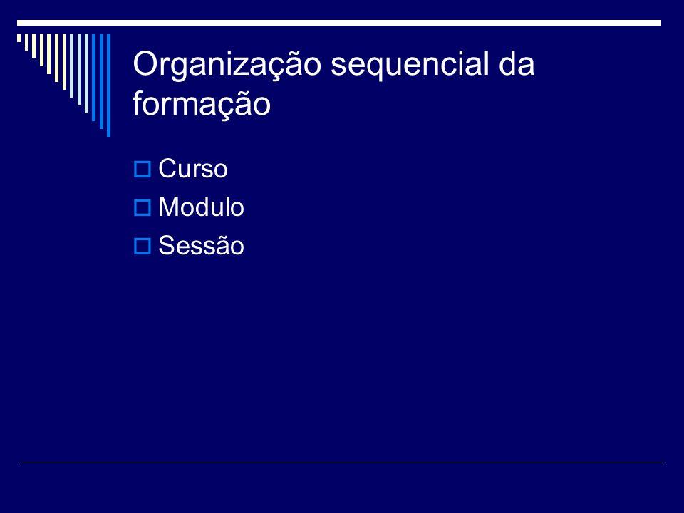 Organização sequencial da formação
