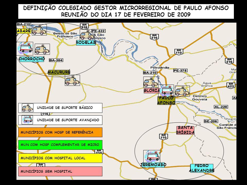 DEFINIÇÃO COLEGIADO GESTOR MICRORREGIONAL DE PAULO AFONSO