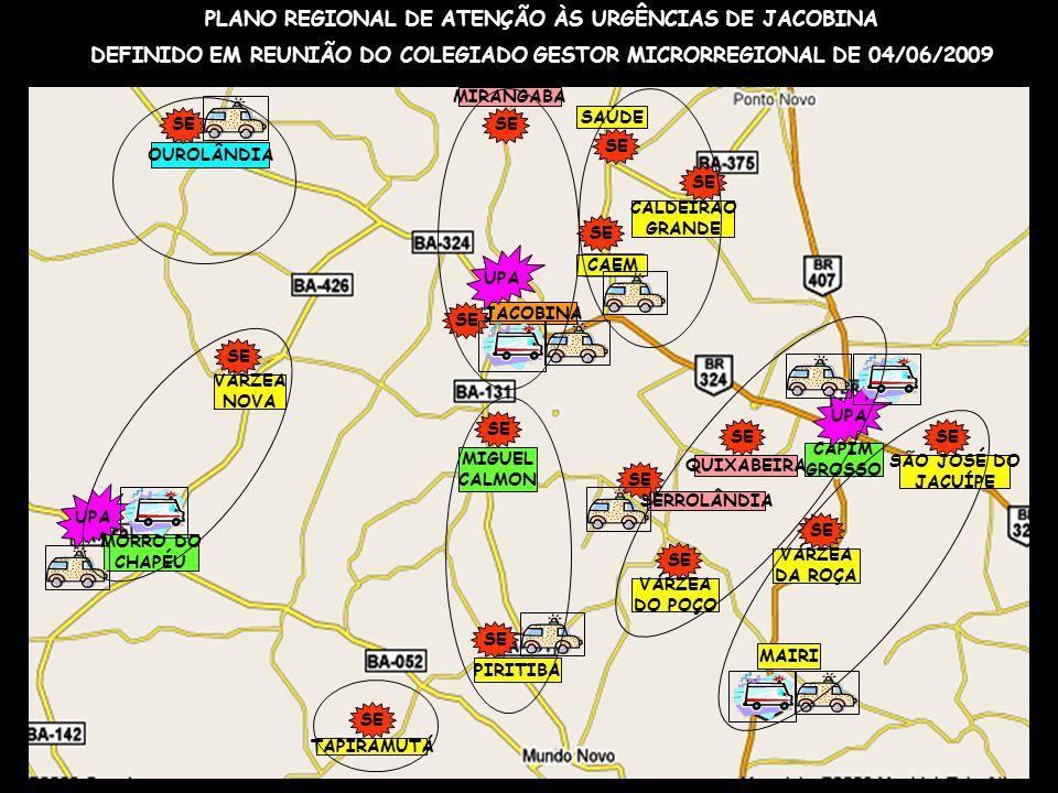 PLANO REGIONAL DE ATENÇÃO ÀS URGÊNCIAS DE JACOBINA
