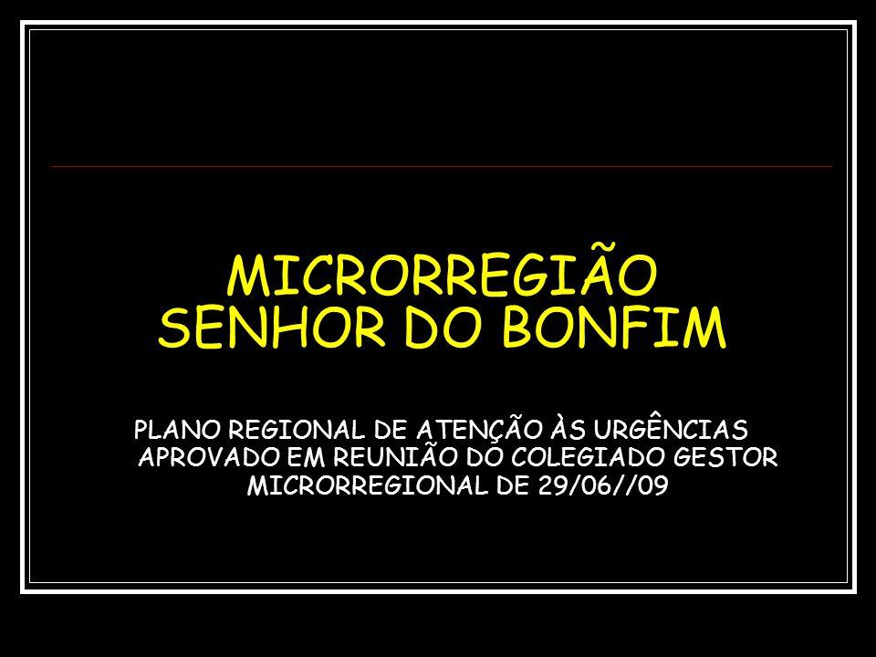 MICRORREGIÃO SENHOR DO BONFIM