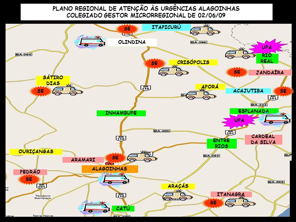 PLANO REGIONAL DE ATENÇÃO ÀS URGÊNCIAS ALAGOINHAS