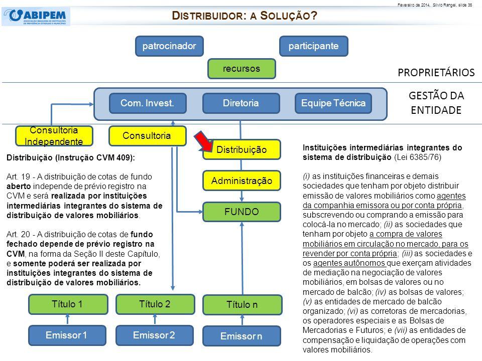 Distribuidor: a Solução