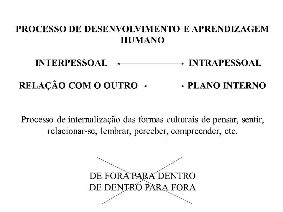 PROCESSO DE DESENVOLVIMENTO E APRENDIZAGEM