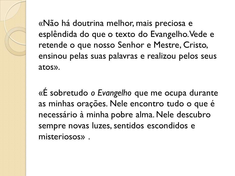 «Não há doutrina melhor, mais preciosa e esplêndida do que o texto do Evangelho.