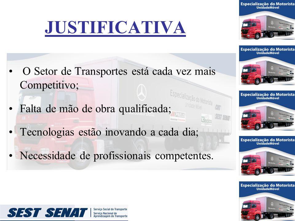 JUSTIFICATIVA O Setor de Transportes está cada vez mais Competitivo;