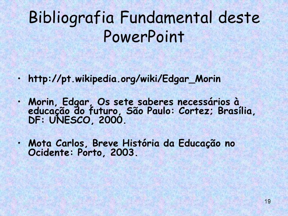 Bibliografia Fundamental deste PowerPoint