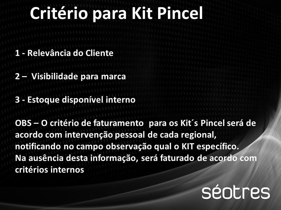 Critério para Kit Pincel