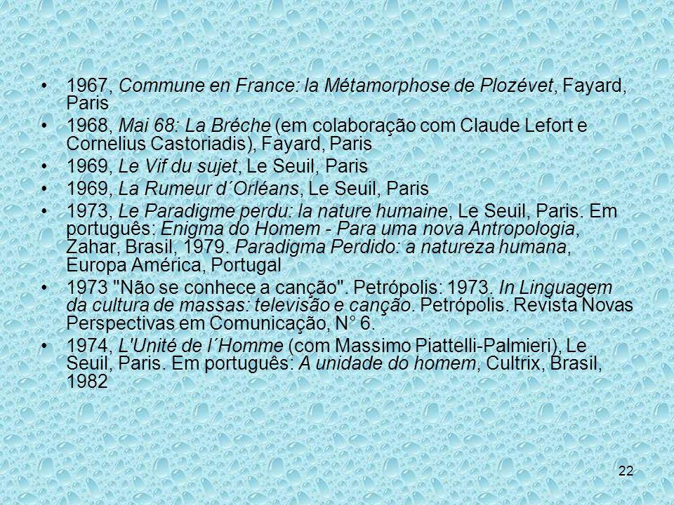 1967, Commune en France: la Métamorphose de Plozévet, Fayard, Paris