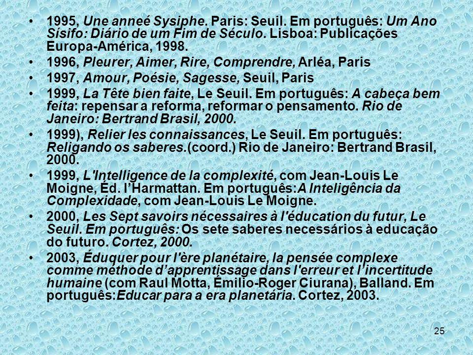 1995, Une anneé Sysiphe. Paris: Seuil
