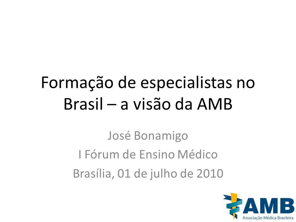 Formação de especialistas no Brasil – a visão da AMB