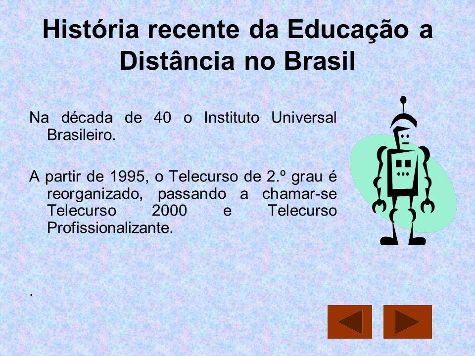 História recente da Educação a Distância no Brasil