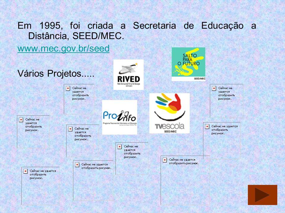 Em 1995, foi criada a Secretaria de Educação a Distância, SEED/MEC.