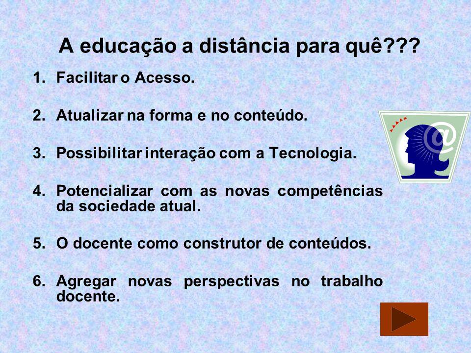 A educação a distância para quê