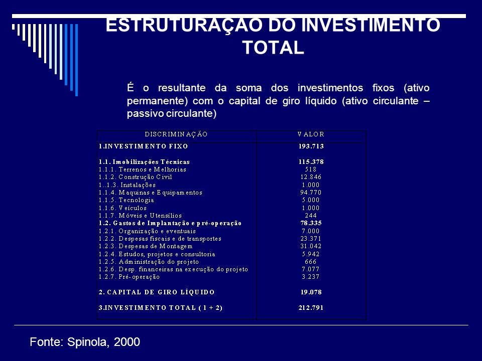 ESTRUTURAÇÃO DO INVESTIMENTO TOTAL