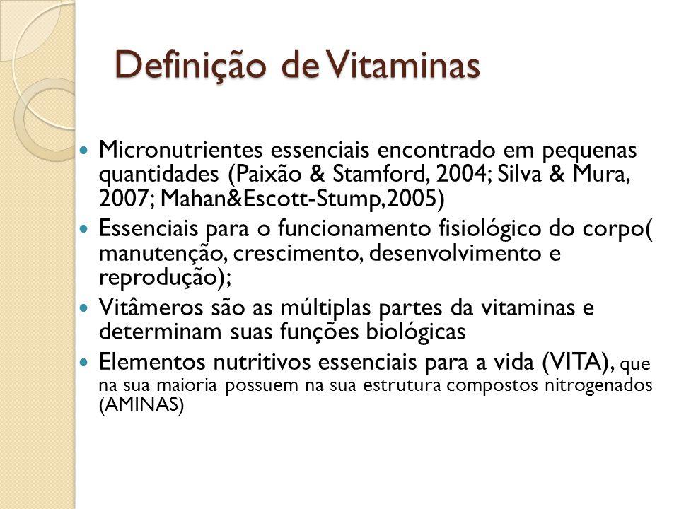 Definição de Vitaminas