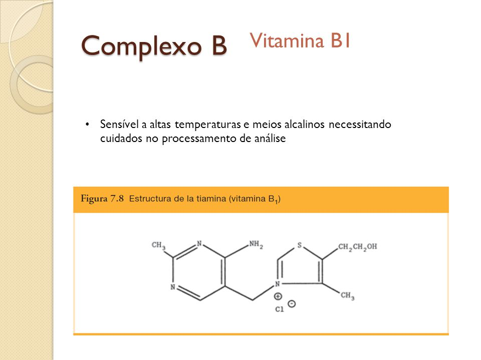 Complexo B Vitamina B1.