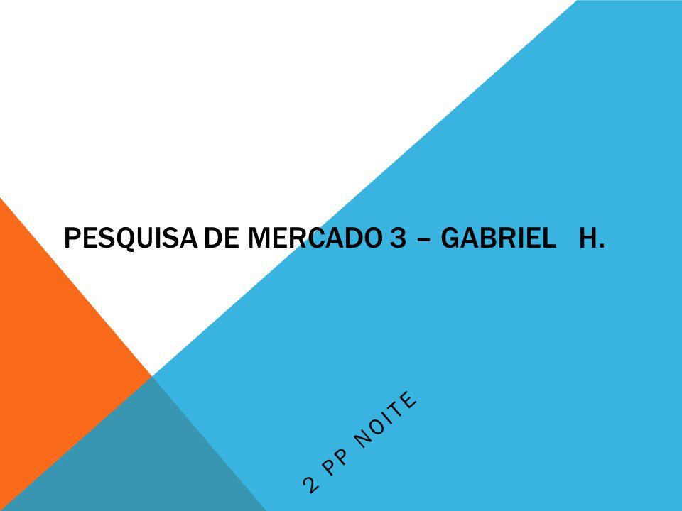 Pesquisa de mercado 3 – Gabriel H.