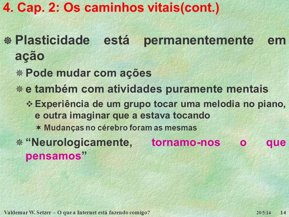 4. Cap. 2: Os caminhos vitais(cont.)