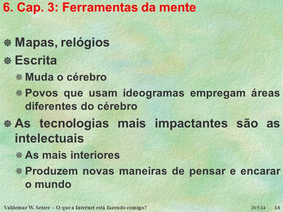 6. Cap. 3: Ferramentas da mente