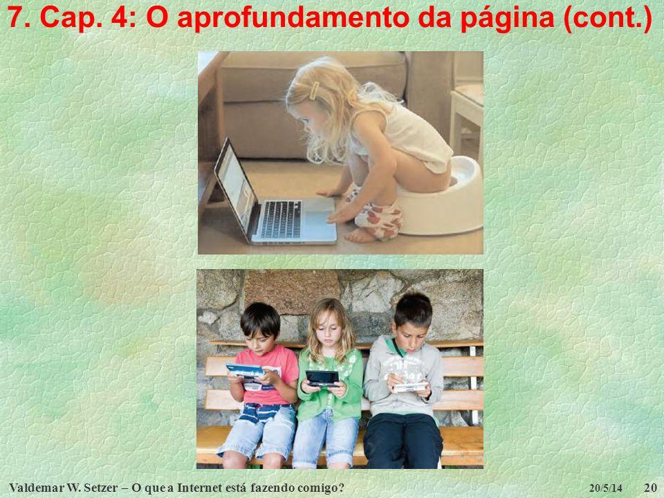 7. Cap. 4: O aprofundamento da página (cont.)