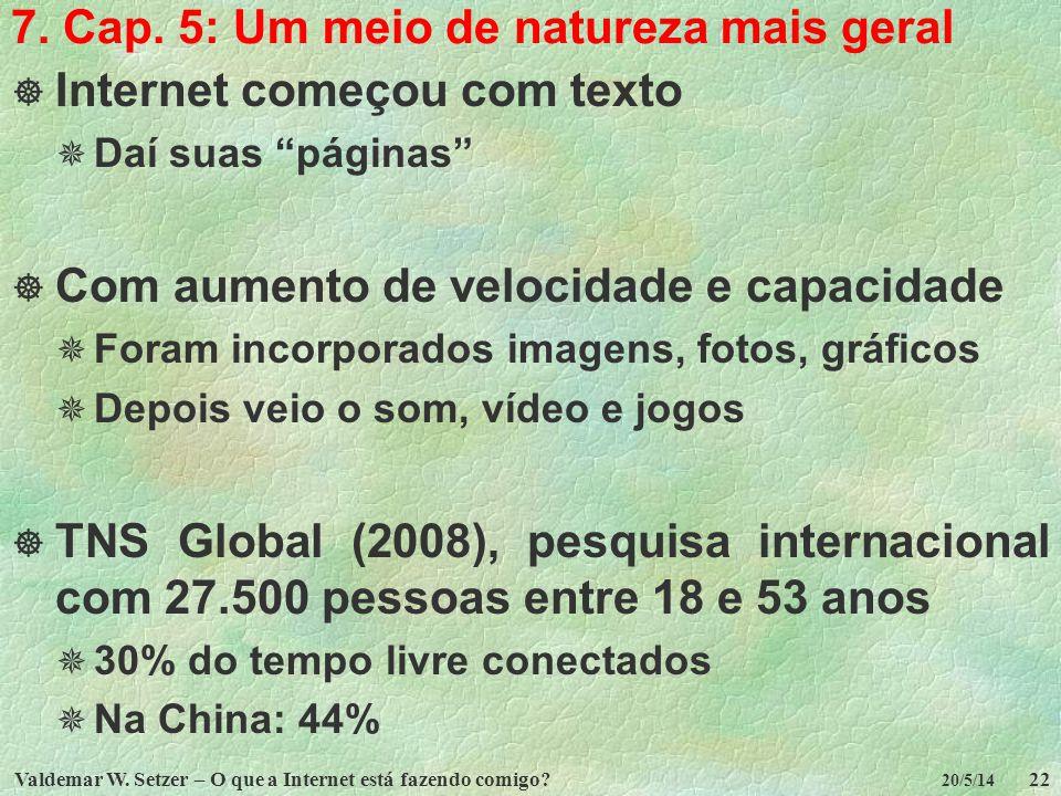 7. Cap. 5: Um meio de natureza mais geral