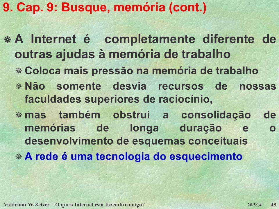 9. Cap. 9: Busque, memória (cont.)
