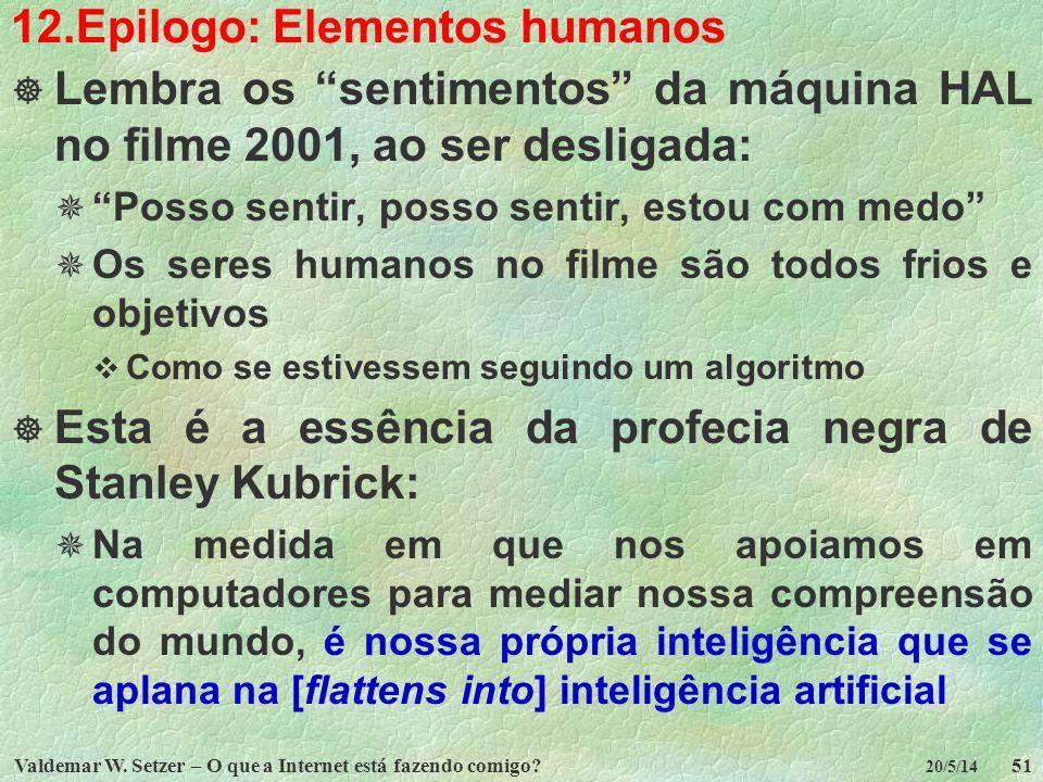 12.Epilogo: Elementos humanos