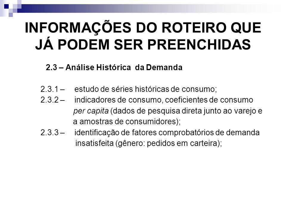 INFORMAÇÕES DO ROTEIRO QUE JÁ PODEM SER PREENCHIDAS