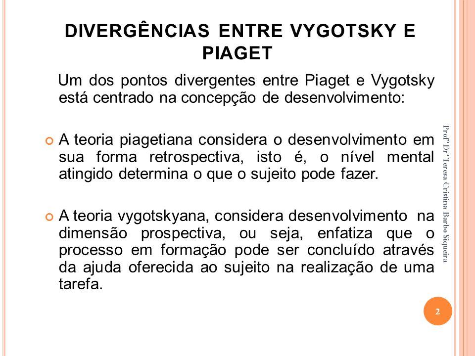 DIVERGÊNCIAS ENTRE VYGOTSKY E PIAGET