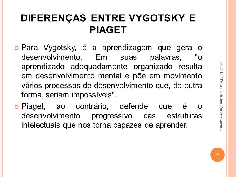 DIFERENÇAS ENTRE VYGOTSKY E PIAGET